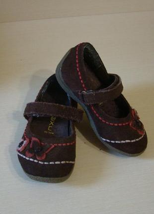Замшевые туфли балетки next 22(6) размера стелькa 14 см
