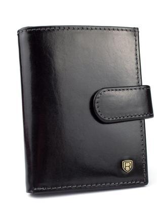 Картхолдер (визитница) кожаный rovicky tw-04-rwt black