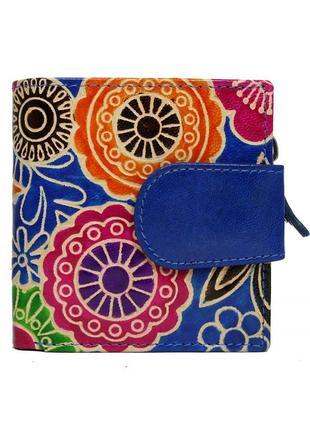 Женский кожаный кошелек spg-98 shanti blue