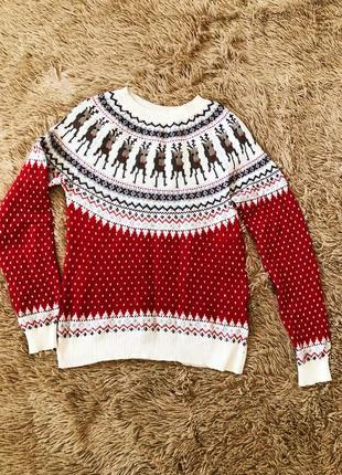 H&m свитер с майнкрафт-оленями, xs