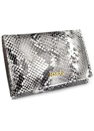Женский кожаный кошелек rovicky 8804-snr silver