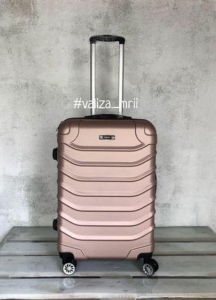 Яркий качественный чемодан, двойный колеса, якісна валіза