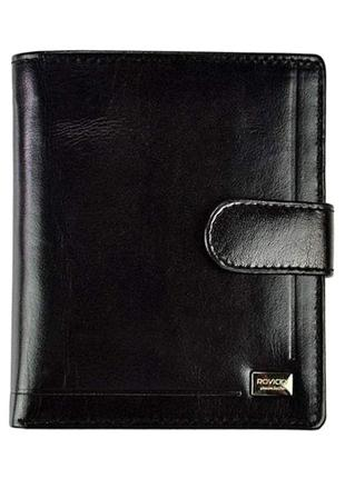 Мужское кожаное портмоне rovicky pc-106l-bar black