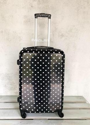 Качественный чемодан, двойный колеса, якісна валіза