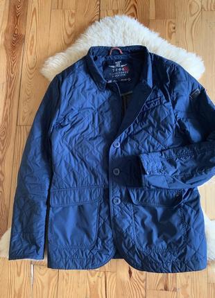 Мужская тонкая стеганая куртка пиджак tiger force р.l