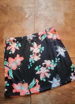 Подарок! юбка цветочный принт короткая