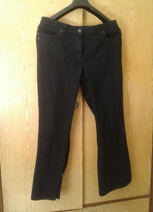 Катоновые грязно - синие джинсы, 3xl.