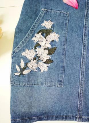 Стильний джинсовий комбез5 фото