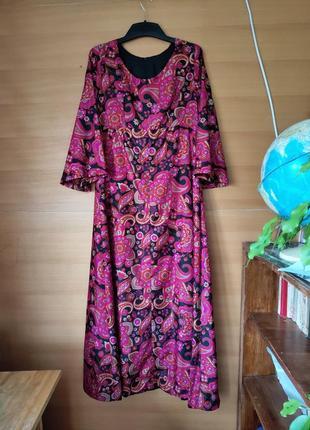 Шелковое платье рубашка в этно стиле