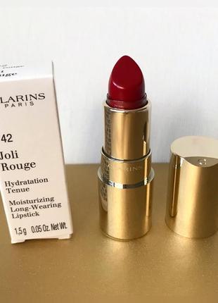 Губная помада clarins joli rouge 742 миниатюра