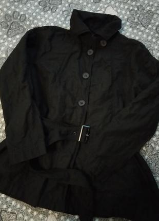 Ken черный плащ куртка пальто