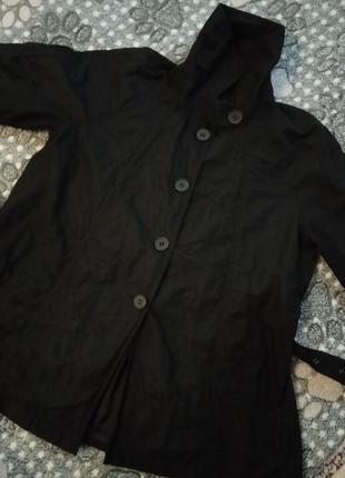 Ken черный плащ куртка пальто6 фото