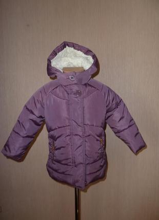 Next теплая куртка некст на 3-4 года