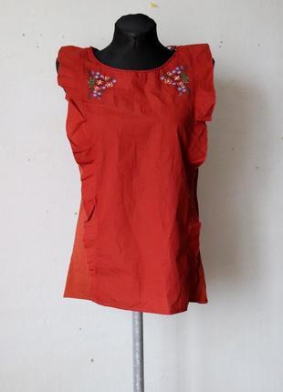 Блуза с вышивкой naf naf