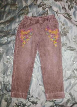 Вельветовые штанишки для девочки