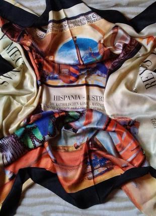 Шелковый дизайнерский платок art rueff. новый