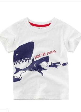 Футболка с акулой