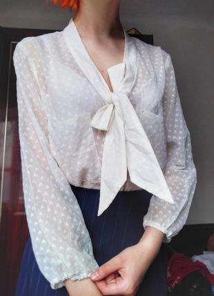 🌸прозрачная кофта / рубашка /блуза на завязках /руьашка с бантом 🌸