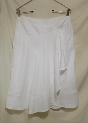 Дизайнерская юбка белая льняная люкс бренд *john richmond* 46-52р