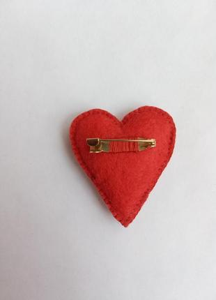 Брошь сердце, брошка серце!3
