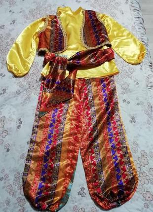 Карнавальный костюм алладин, восточный принц, падишах, султан на 7-8лет