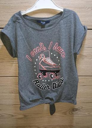 Серая футболка для любителей роликов на завязках kiabi ❤️