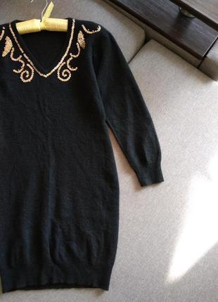 Теплое шерстяное платье /ангора hennes