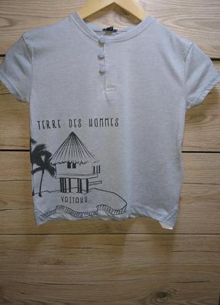 """Стильная серая футболка """"vaitahu """" kiabi ❤️"""