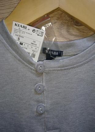 """Стильная серая футболка """"vaitahu """" kiabi ❤️2 фото"""