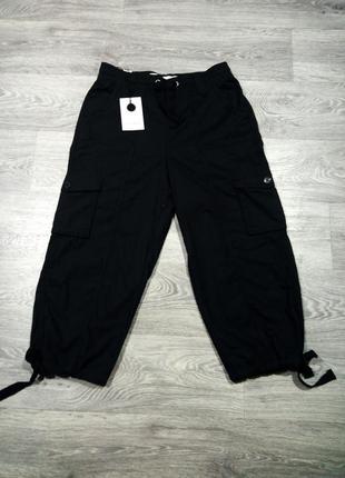 Черные бриджи шорты капри с карманами карго full circle