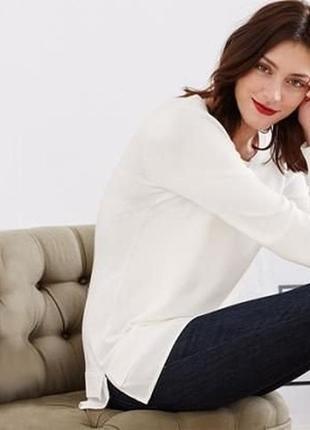 Стильный пуловер + блуза,эффект 2 в 1 tchibo (германия) размер 44 евро