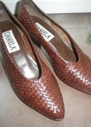 Туфли плетеная кожа бразилия