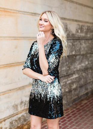 Heidi klum шикарне плаття в паєтки р.34 знижка