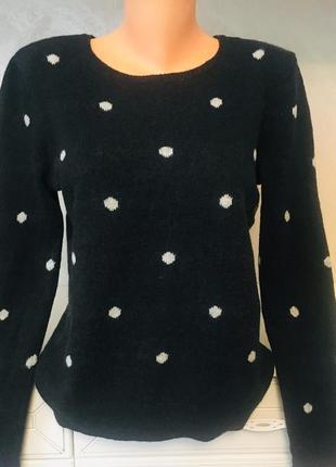 💥скидки! брендовый свитер свитшот в принт «горох»