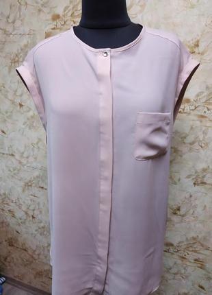 Стильная нежная блуза, нежного пудрового цвета, размер 20
