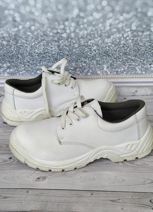 40р германия белые туфли,ботинки экокожа