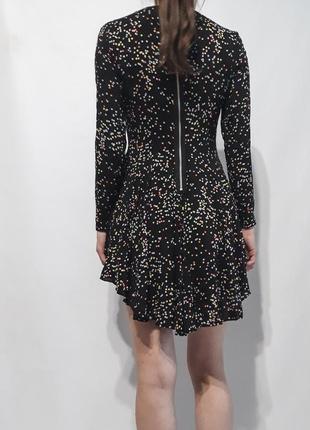 Платье в горох с рукавам и пышной юбкой h&m2 фото