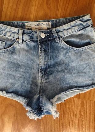 Джинсовые шорты alcott светлые +🎁🌸на выбор
