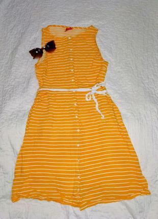Платье-рубашка хлопковая безрукавка.