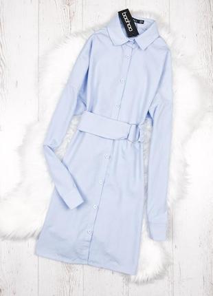 Сукня-сорочка кольору baby blue boohoo2 фото