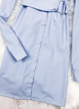 Сукня-сорочка кольору baby blue boohoo5 фото