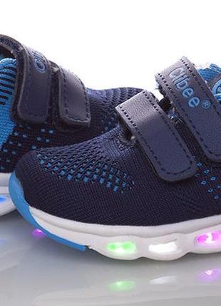Мигающие кроссовки для мальчика с подсветкой