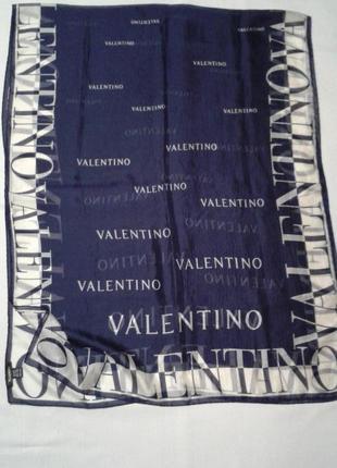 Шарф valentino италия с логотипом подписной +200 шарфов платков на странице