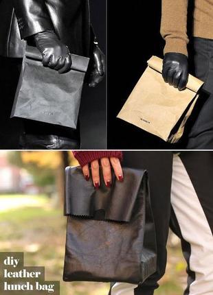 Клатч пакет_кожаная сумка пакет