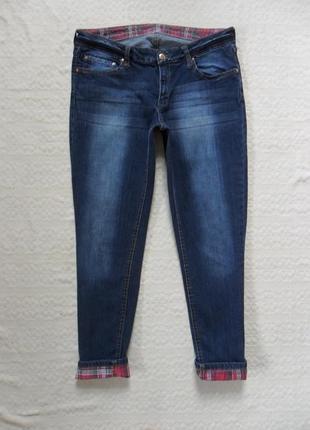 Крутые укороченные джинсы скинни с подворотом mango, 14 размер.