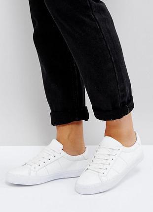 Кроссовки кеды на шнуровке asos devlin