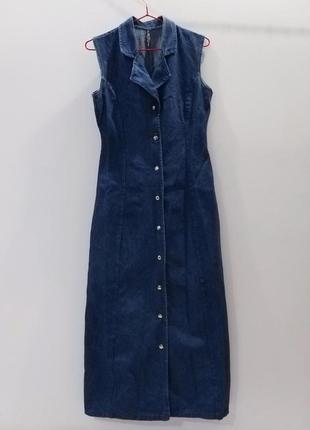Жіноче джинсове плаття,плаття під джинс,довге джинсове плаття