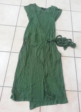 Платье трикотаж на запахе