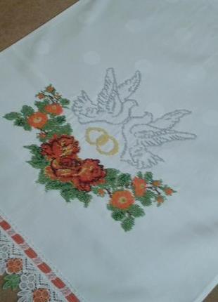 Свадебный рушник вышивка бисер чехия новый торг весільний рушник