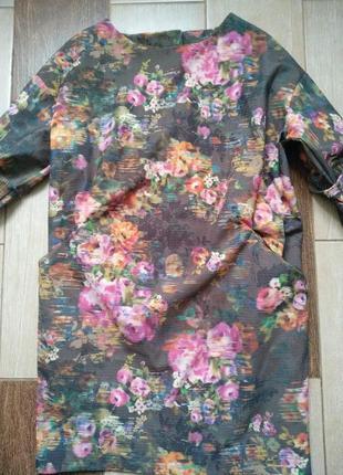 Супер платье принт цветы